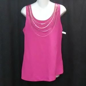 5/48 Sleeveless Blouse with Chains Attached